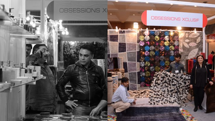 #Obsessions and #ObsessionsXclusif presentingbeautiful #carpets and #HomeUtilityProducts exclusively at our exhibition #HouseFull organised by #RamolaBachchan.