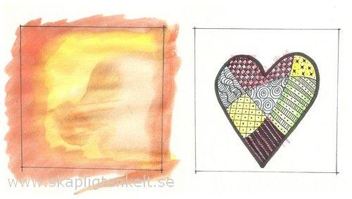 bilduppgift med hjärtan