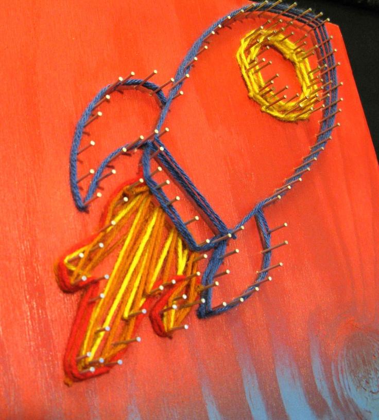 String Art Rocketship. $60.00, via Etsy.