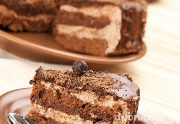 Kávová torta s karamelovým krémom