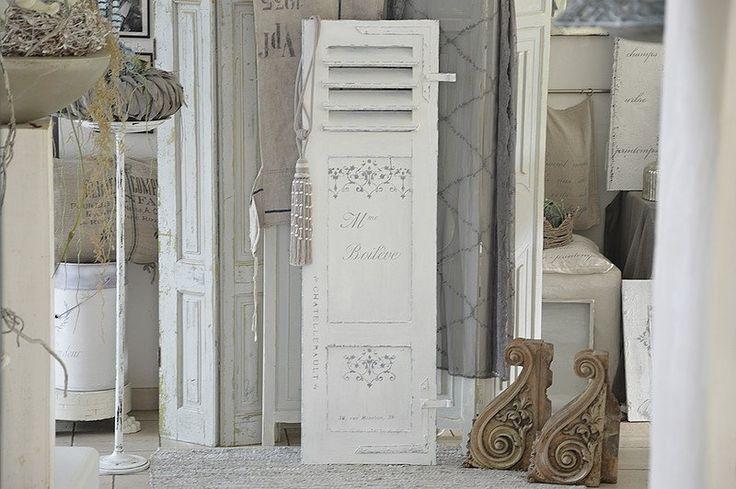 """Vintage Deko - Antiker Fensterladen """"shabby-chic"""" - ein Designerstück von Elflora bei DaWanda"""