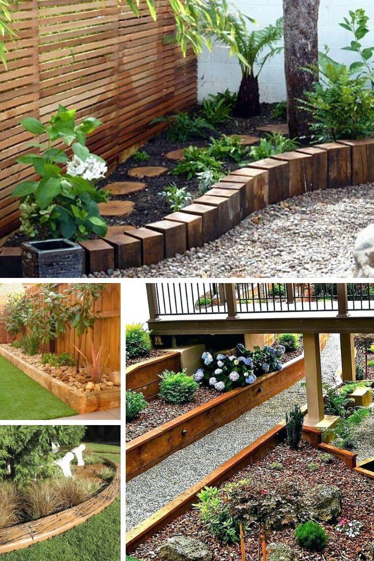 21 Brilliant Cheap Garden Edging Ideas With Pictures For 2021 Garden Edging Ideas Cheap Wood Garden Edging Garden In The Woods Backyard border landscaping ideas