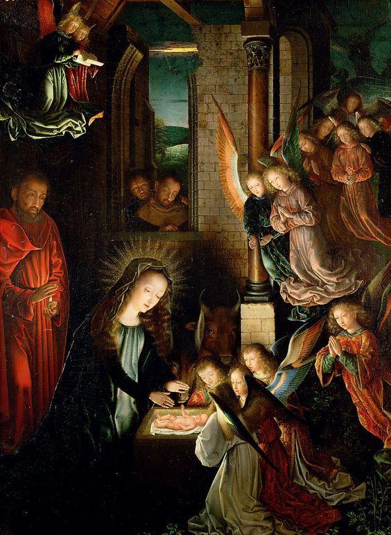 Nativity of Jesus Christ / Natividad del Señor Jesús / Geburt Christi // circa 1495 // Gerard David // Kunsthistorisches Museum, Vienna