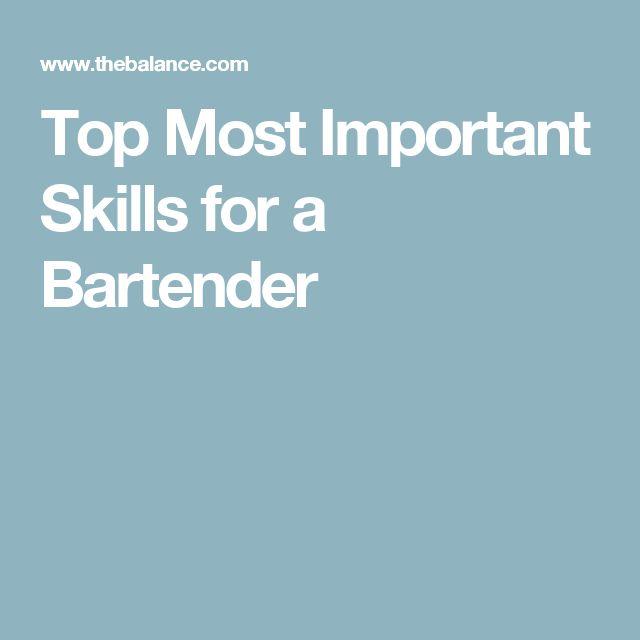 12 best 7\/16\/2017 bartender resume images on Pinterest Do you - bartender resume
