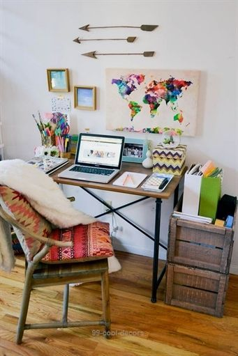 boho home office nyc apartment tour hipster apartment small one rh pinterest com