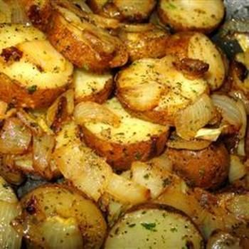 Lyonnaise Potatoes--haha! I watched an old movie last night and they were talking about these potatoes. I'd never heard of them before. Now I know!!
