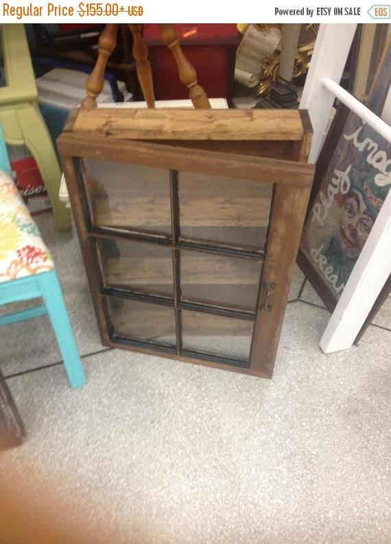 24x30 or 27x30- sizes can vary- approx size window cabinet 3.5-4 deep inside Can be made with a 4 or 6 pane window Can be painted or stained  window medicine cabinet Window curio cabinet Old window cabinet Window wall cabinet Shadow box cabinet Old reclaimed window similar to shadow box coffee table similar to shadow box end table window display cabinet window display wall cabinet display cabinet window curio curio cabinet old medicine cabinet  please check out my other items in my etsy…