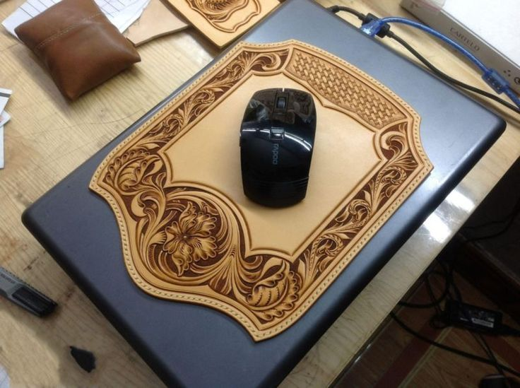 Leather Pattern Mouse Pad DIY Sheridan Style Template  Leathercraft Tools G001 фото