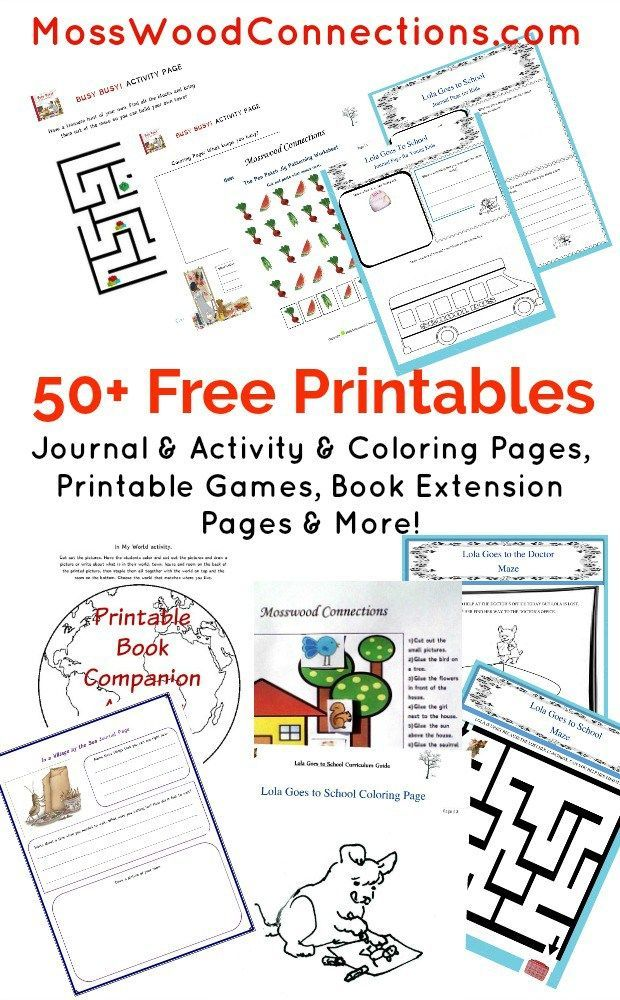 more than 50 free printables for children free printables for book extension activities reading