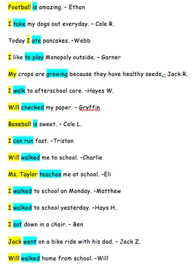 Subject and Predicate Starboard Activity (Highlighting)