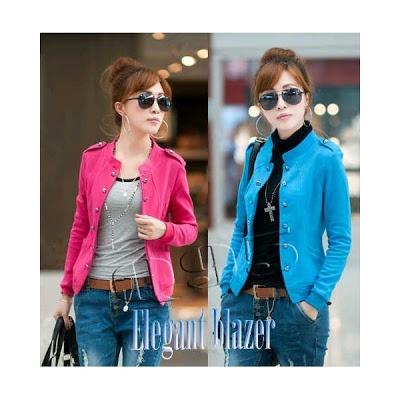 Grosir Baju Korea Terbaru dan Termurah: Elegant Blazer : Blazer Mewah dengan 3 Pilihan Warna