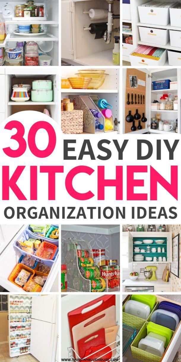30 genius kitchen organization hacks a organized nest kitchen rh pinterest com