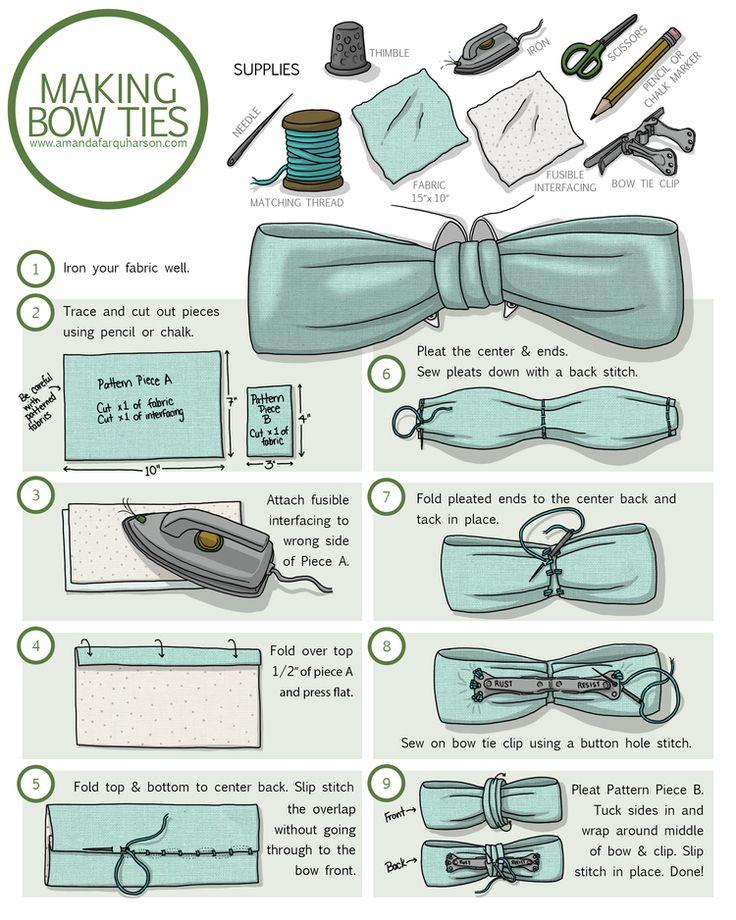 How to Make a Clip-On Bow Tie — Amanda Farquharson