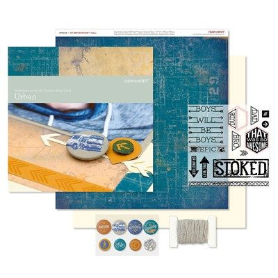 Close To My Heart Workshops on the Go® Urban Scrapbooking Kit Contents:  1 – My Reflections™ Urban Paper Packet (X7204B) 1 – My Acrylix® Urban Workshop Stamp Set (D-size) 2 – Cardstock Sheets (Colonial White) 1 – Urban Assortment (Z3079) 1 – W