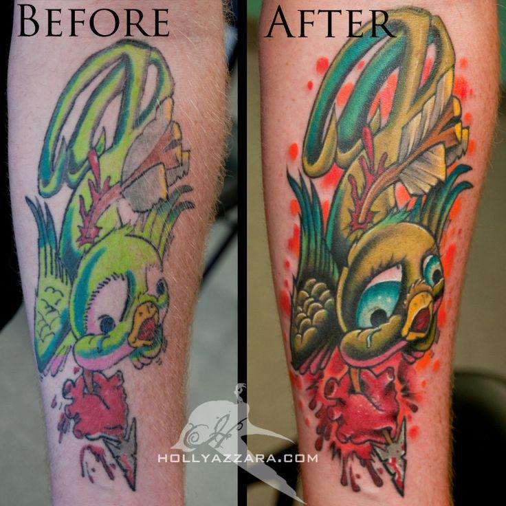New school tattoos new school bird color tattoo rework for Tattoo school listings