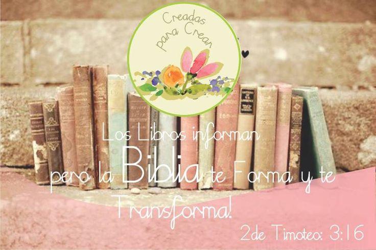 El único libro donde su autor está presente y transforma vidas es LA BIBLIA!