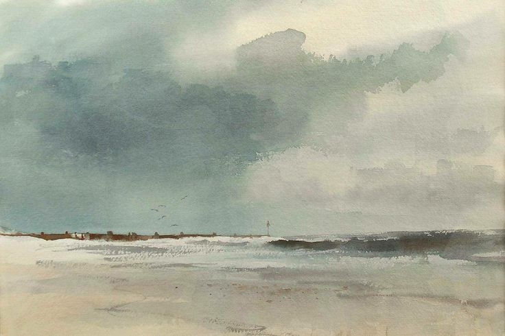 Edward Brian Seago (1910 — 1974, UK) Half tide, Waxham. watercolour. 14.6 x 21.5 in. (37 x 54.5 cm.)