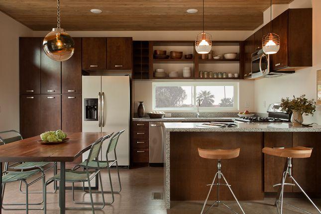 It's in a prefab!Mid Century Modern, Kitchens Design, Lights Fixtures, Appliances, Kitchens Ideas, Palms Spring, House, Modern Kitchens, Modern Home
