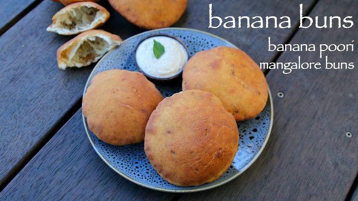 banana buns recipe, mangalore buns recipe, banana puri recipewith step by step photo recipe. banana buns are also called as banana poorisorsweet pooris.