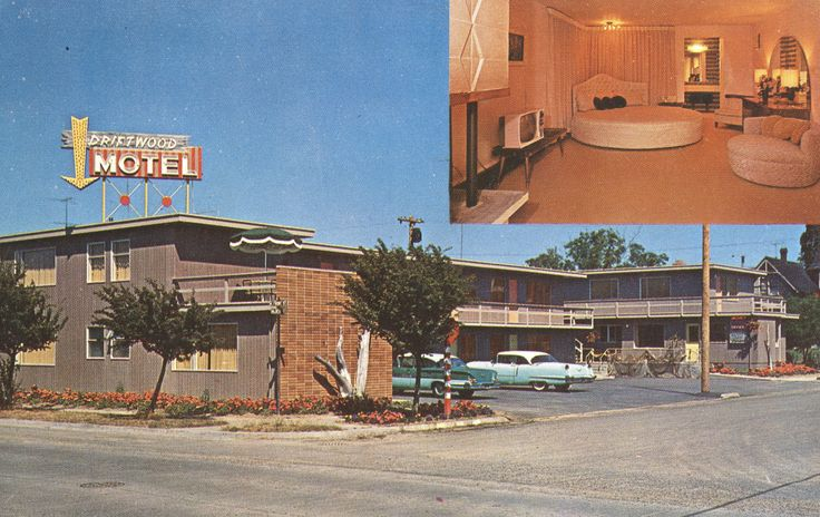 https://flic.kr/p/QHAXRL | Driftwood Motel - Port Angeles, Washington | Front & Albert Sts. One block off highway U.S. 101 - 5 blocks to city center and Victoria Ferry. 20 deluxe units - unique bridal suite. Recommended by Duncan Hines  George Mead S-31703L2
