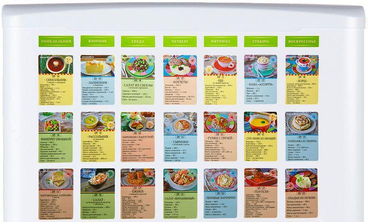 Магнитные карточки с рецептами на холодильнике