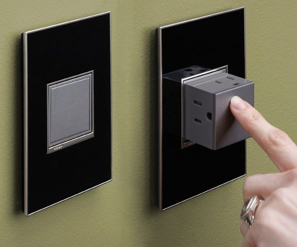 The pop-out plug outlet is a fantastic idea that also doubles up as a child safety plug while it's not in use. Their innovative design is perfect for a modern and minimalistic home – when you need them, a simple push from your finger reveals a pop-out outlet cube ready for use.