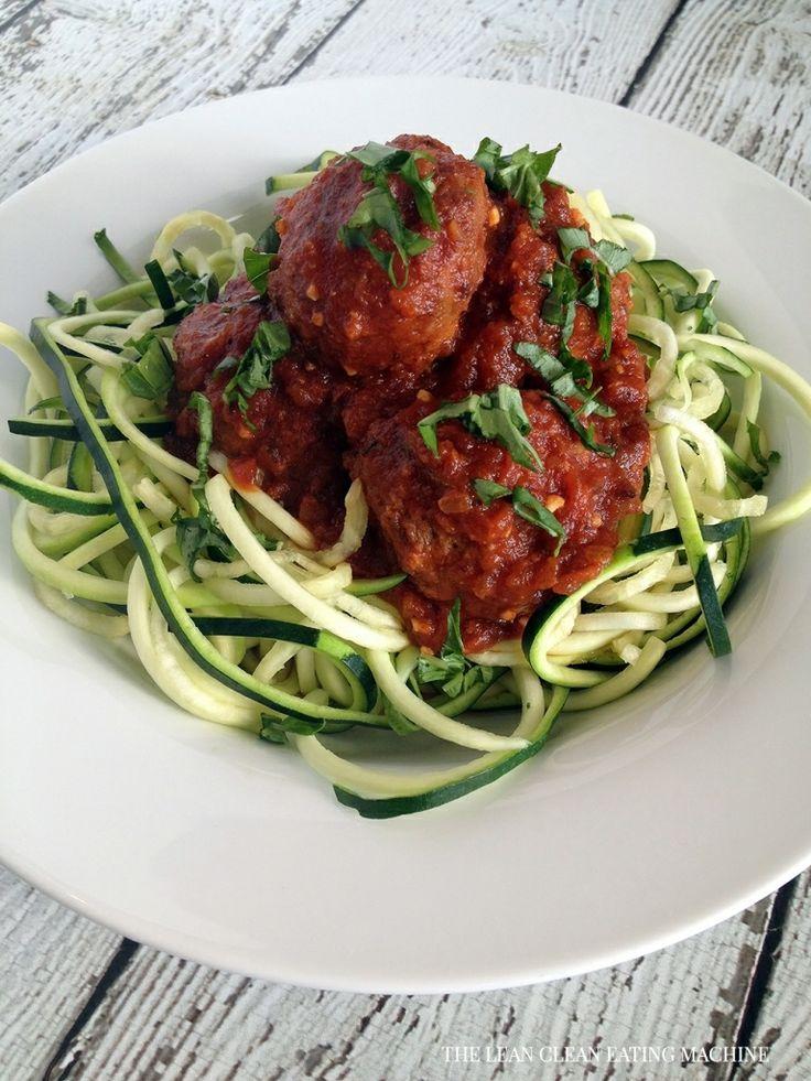 Easy zucchini spaghetti and turkey meatballs recipe for Zucchini noodles and meatballs recipe