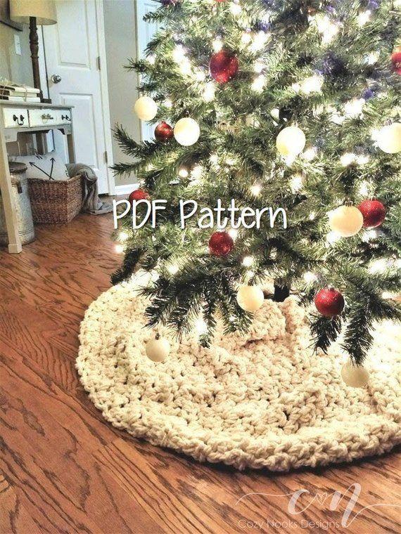 Snow Flurry Tree Skirt Crochet Pattern Farmhouse Decor Tree Scarf Rustic Christmas Decor Crochet Christmas Pattern Magnolia Farm In 2020 Christmas Tree Skirts Patterns Crochet Tree Skirt Christmas Tree Skirt Crochet Pattern