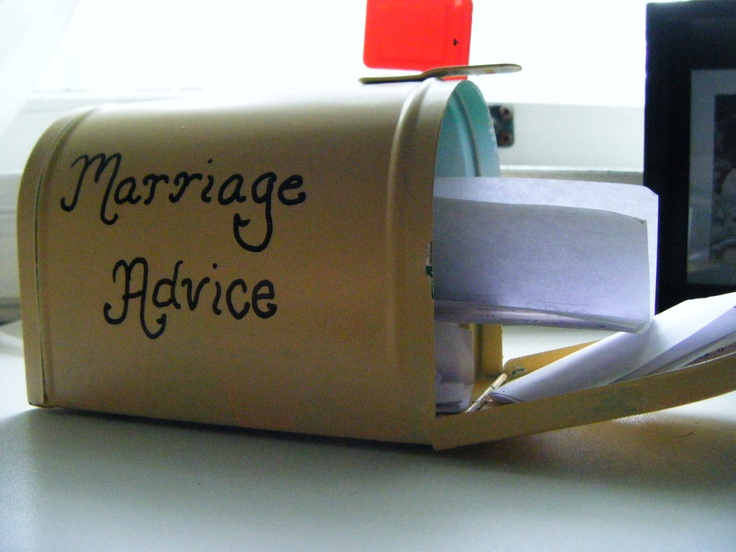 Marriage Advice- a fun wedding or reception idea...