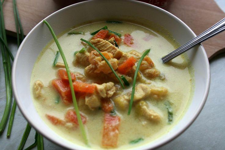 Zupa tajska z krewetkami i kurczakiem