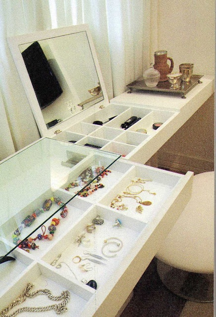 awesome idea I wonder if I could build a drawer into my glass vanity?!?!?!