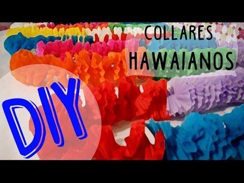 CÓMO HACER COLLARES HAWAIANOS CON PAPEL CREPÉ | DIY | Nadia Elias