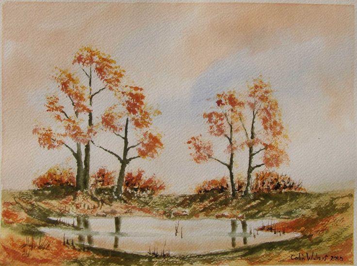Autumn Pond 12 x 9 watercolour