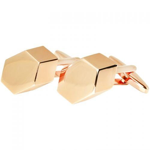 Butoni pentru Camasa Hexagonali, Nuanta Aur Rosé - Bocane