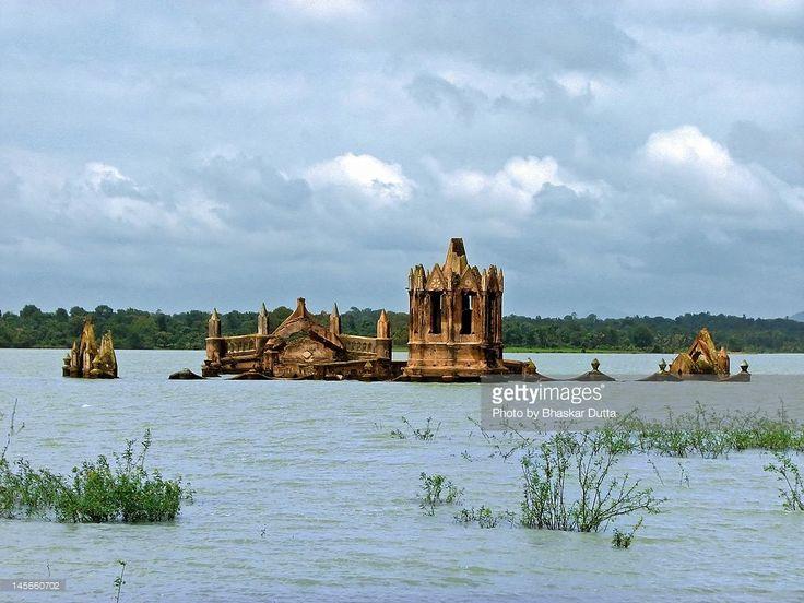 July 26, 2009: Partially submerged by backwaters of Hemavathy reservoir, Holy Rosary Church at Shettyhalli.