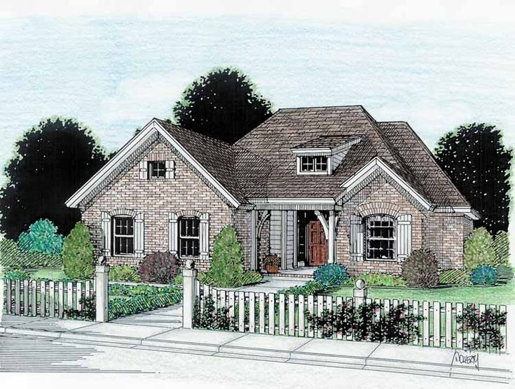 french country house plan with 1541 square feet and 3 bedrooms from dream home source