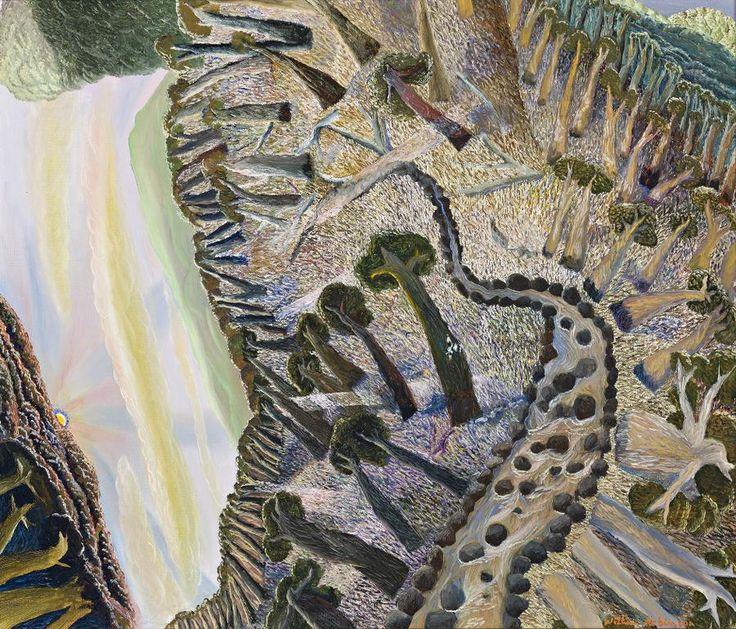 WILLIAM ROBINSON FLYING FOX LANDSCAPE, 1989 56.0 x 66.0 cm oil on canvas