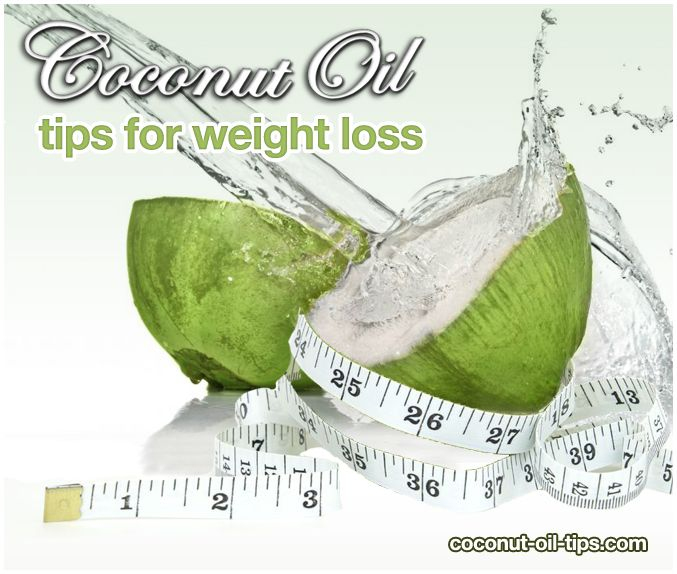 Coconut Oil Weight Loss Tips Graphic