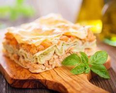 Lasagnes au saumon, mozzarella et poireaux au four Ingrédients