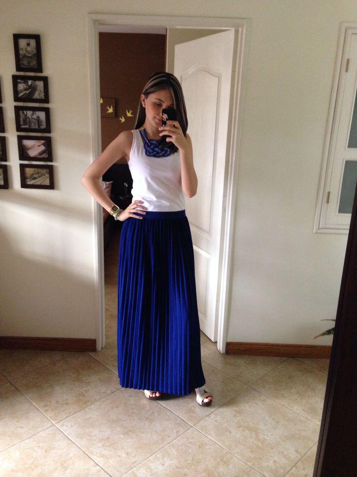 Falda Azul Cobalto