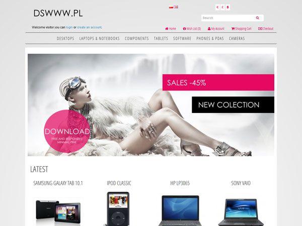 Minimal Pink OpenCart Theme
