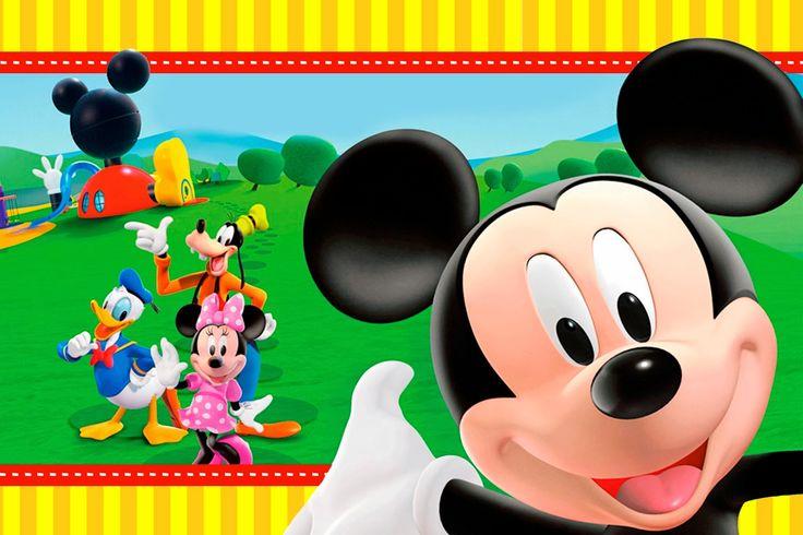 Casa de Mickey: Imprimibles e Invitaciones para Imprimir Gratis.
