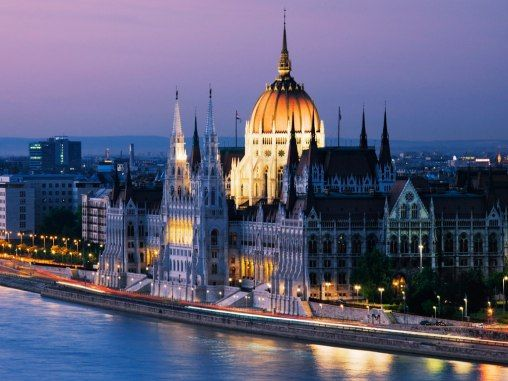 The Parliament Building in Budapest, Hungary