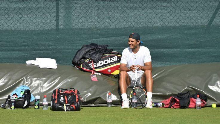 PHOTOS: Rafael Nadal Practices At Wimbledon | Rafael Nadal Fans