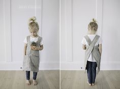 Cross back pinafore apron sewing pattern (adult and child)                                                                               More