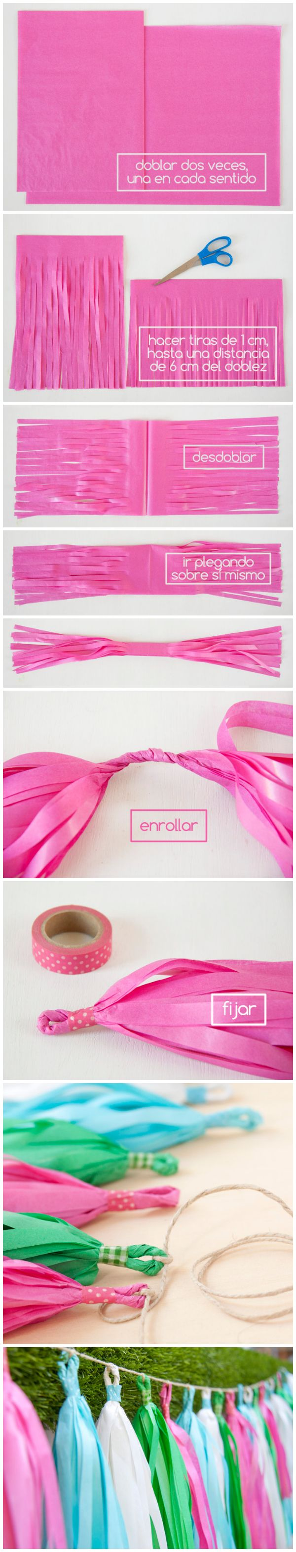 Tutorial DIY: cómo hacer tassel garlands. www.clinicadentalmagallanes.com