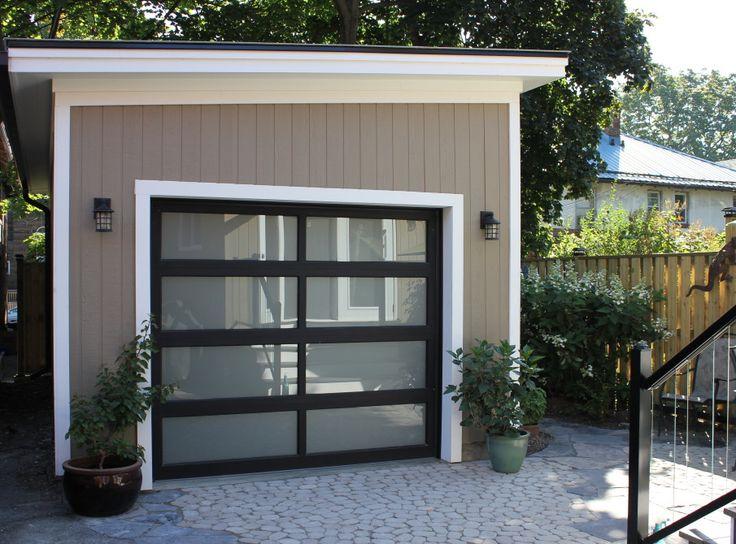 Toronto modern garage, yoga garage, backyard yoga studio