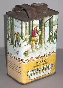 vintage tin maple syrup