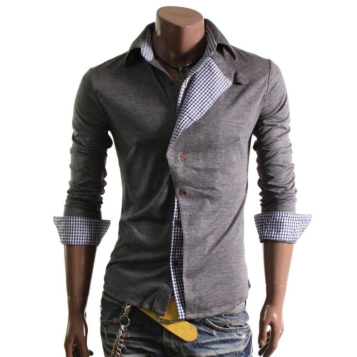 Doublju Mens Casual Checked Pattern Shirts(W04S): Amazon.com: Clothing