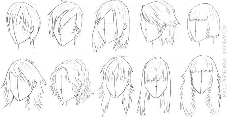 Les 57 meilleures images du tableau manga sur pinterest - Dessin de coupe de cheveux ...